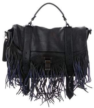 Proenza Schouler Fringed Medium PS1 Satchel
