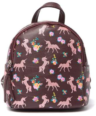T-Shirt & Jeans Mikey Glitter Unicorn & Floral Mini Backpack
