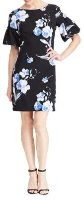 Lauren Ralph Lauren Floral Bell-Sleeve Sheath Dress