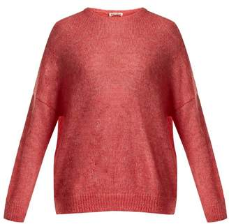 Masscob Dropped Shoulder Mohair Blend Sweater - Womens - Pink