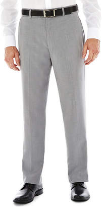 STAFFORD Stafford Travel Flat-Front Sharkskin Dress Pants - Classic