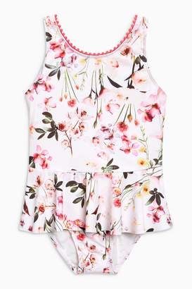 Next Girls Floral Skirted Swimsuit (3mths-6yrs)