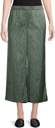 Eileen Fisher Wide-Leg Silk Cotton Blend Pants