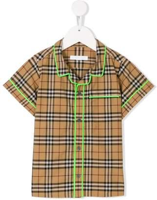 Burberry checked poplin shirt