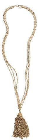 LOFT Long Fine Chain Tassel Necklace