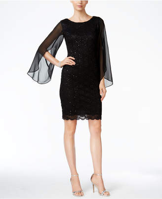 Connected Illusion Angel-Sleeve Lace Sheath Dress $89 thestylecure.com