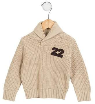 Marie Chantal Boys' Shawl Collar Cable Knit Sweater