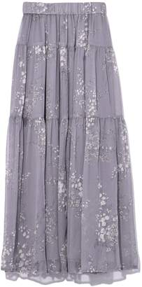Co Elastic Waist Tiered Skirt in Grey