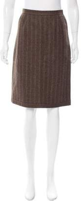 Philosophy di Alberta Ferretti Knee-Length Wool Skirt