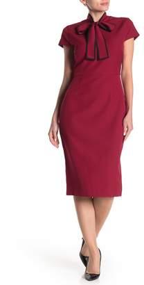 Alexia Admor Neck Tie Cap Sleeve Sheath Dress