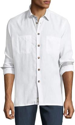 Luciano Barbera Men's Linen Sport Shirt