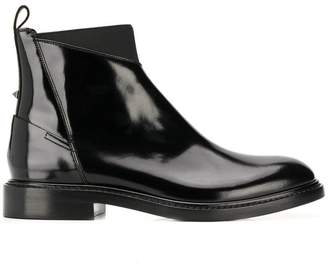 Valentino contrast panel ankle boots
