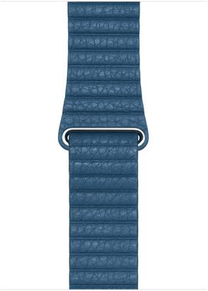 Apple 44mm Cape Cod Blue Leather Loop - Medium