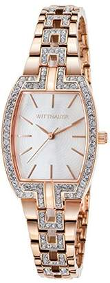 Wittnauer Wn4018 Women's Rose-Tone Ss And Tonneau Case White Mop Dial Crystal Accent Watch