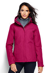 Classic Women's Hooded Squall Jacket-Wild Cherry