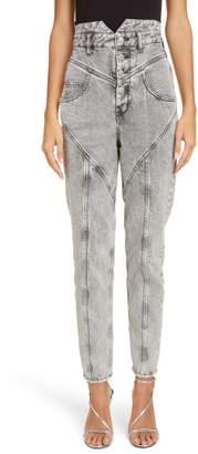 Isabel Marant Acid Wash Straight Leg Jeans