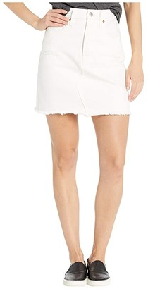 Levi's Premium High-Rise Deconstructed Boyfriend Skirt