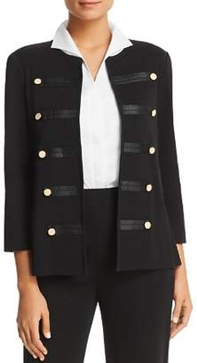 Misook Appliquéd Military Jacket