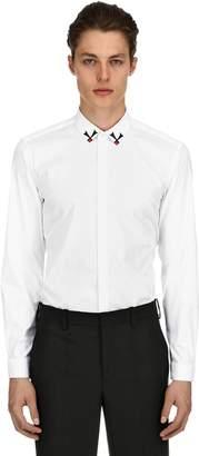 Neil Barrett Slim Fit Cotton Poplin Shirt