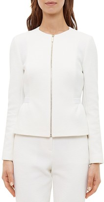 Ted Baker Olatio Textured Peplum Jacket $375 thestylecure.com