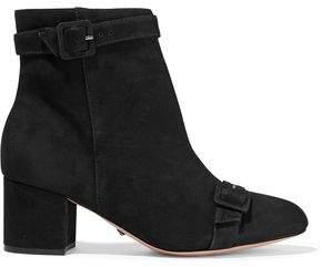 Schutz Sabrini Buckled Nubuck Ankle Boots