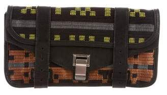 Proenza Schouler Leather-Trimmed PS1 Pouchette