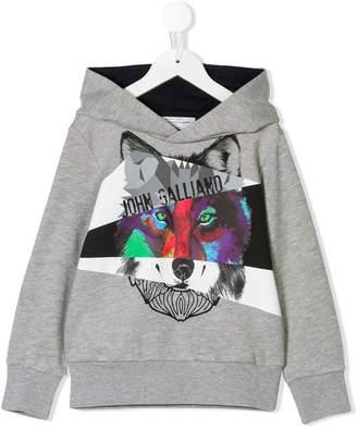 John Galliano wolf printed hoodie