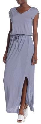 Joe Fresh Side Slit Striped Maxi Dress