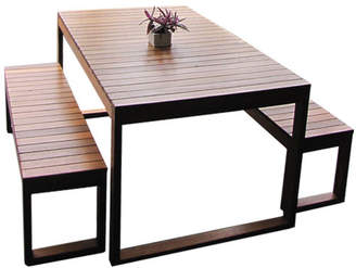 Exemplar 3 Piece Outdoor Table Set Variant: 8 Seater