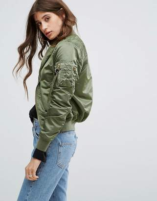 Alpha Industries MA-1VF Reversible Bomber Jacket $217 thestylecure.com