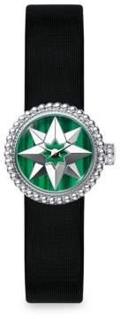 Christian Dior La Mini D de Rose De Vents Malachite& Satin Watch
