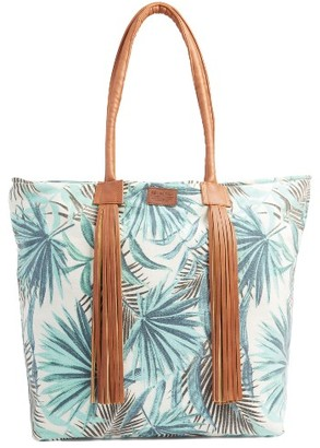 Rip Curl Palm Print Beach Tote - Ivory $46 thestylecure.com