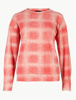 Marks and Spencer Checked Long Sleeve T-Shirt