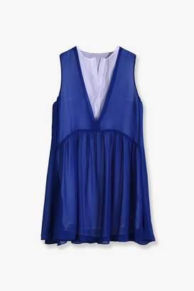 Genuine People Layered Chiffon Mini Dress