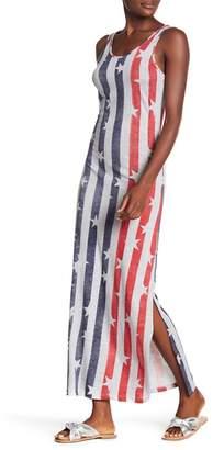 Alternative USA Scoop Neck Print Maxi Dress