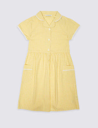 Marks and Spencer Girls' Gingham Pure Cotton Dress