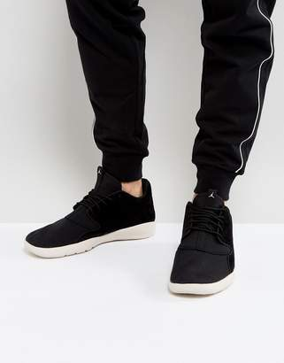 Jordan Nike Eclipse Leather Sneakers In Black 724368-013
