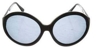 Salvatore Ferragamo Round Logo Sunglasses