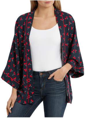 Only Beso 3/4 Short Kimono Woven