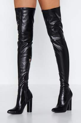 Nasty Gal Cat Woman Forever Thigh-High Boot