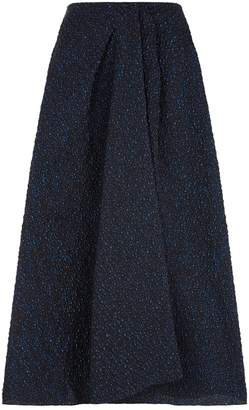 Roland Mouret Mulligan Metallic Jacquard Skirt