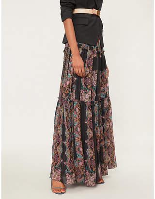 Etro Floral-print silk maxi skirt