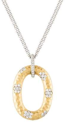 Roberto Coin 18K Diamond Martellato Pendant Necklace