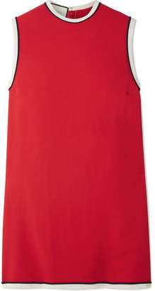 Gucci Grosgrain-trimmed Cady Tunic - Red