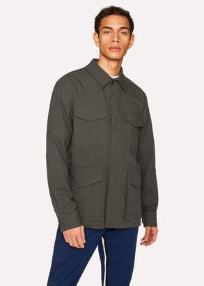 Paul Smith Men's Charcoal Grey Stretch-Cotton Twill Field Jacket