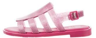 Mel by Melissa Girls' Rubber Multi-Strap Sandals w/ Tags