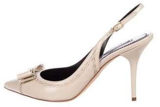 Dolce & Gabbana Patent Leather Bow Slingback