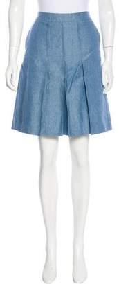 Etro Linen Knee-Length Skirt