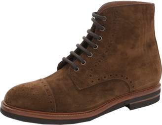 Brunello Cucinelli Suede Wing Tip Boot