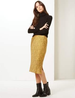 Marks and Spencer Animal Print Slip Midi Skirt